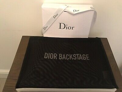 £19.95 • Buy Dior Backstage Pro Extra Large Mesh Cosmetic Bag Brand New In Box FREE POSTAGE