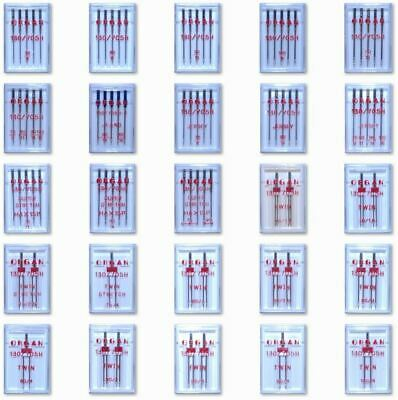 £3.95 • Buy Organ Domestic Sewing Machine Needles Full Range Fits Brother Janome Etc