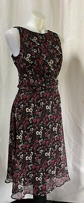 AU18.50 • Buy JUST ELEGANCE Floral Print Sleeveless Dress Size 18