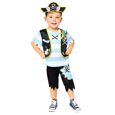 £13.82 • Buy Childs George Pig Pirate Fancy Dress Costume Caribbean Book Day Kids Boys Peppa