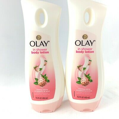 AU47.20 • Buy Lot Of 2 Olay Strawberry Mint In Shower Body Lotion 15.2 Fl Oz New