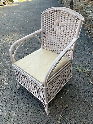 AU20 • Buy Vintage/Antique Painted Wicker/cane Chair.