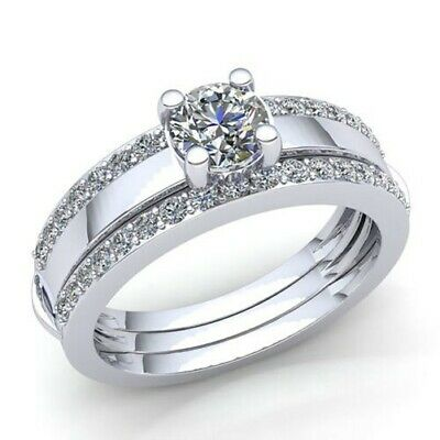 AU881.37 • Buy Natural 0.75ct Round Diamond Womens Bridal Solitaire Engagement Ring 14K Gold