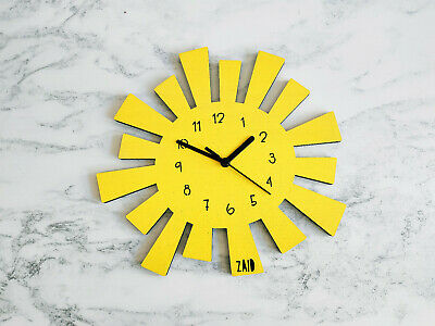 £20 • Buy Yellow Sun Clock • Father's Day Present • Personalised Gift