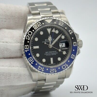 $ CDN23231.05 • Buy ROLEX BATMAN GMT Master II 40mm 116710BLNR Men's Watch Box And Papers