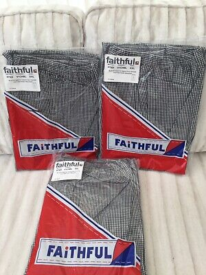£14 • Buy Chefs Trousers New 3 Pairs Of Black And White Checked Size 2xl