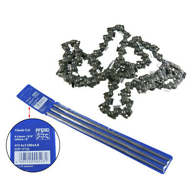 £12.99 • Buy 3PCS Drive Link Chain Saw Mill Chain Files Fits Smooth Cutting Blade Tools