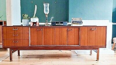 £305 • Buy Mid-Century E-Gomme G-Plan Sideboard In Teak With Brass Details: