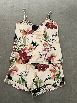 Womens Cyberjammies NATALIE FLORAL PRINT CAMI AND SHORTS SET Size 12 NEW • 3.99£
