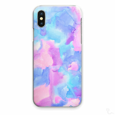 AU15.85 • Buy Watercolour Print Phone Case Pink Blue Hard Cover For Apple Samsung Huawei