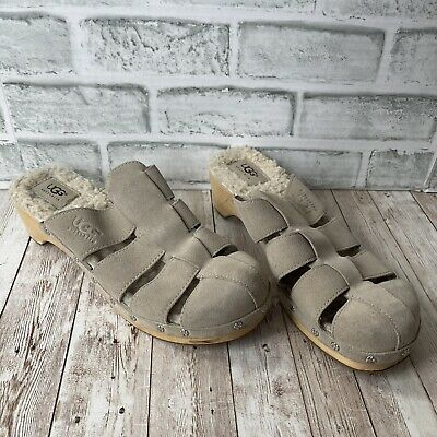£29.24 • Buy Preowned Womens Ugg Wooden Clogs Taupe Size 9