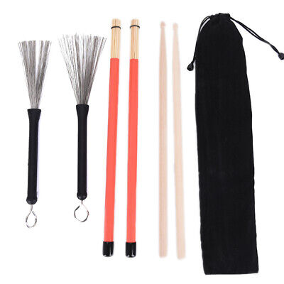 AU16.99 • Buy 1 Pair 5A Drum Sticks Wood Drumsticks Set 1 Pair Drum Brushes Drum Stick WH