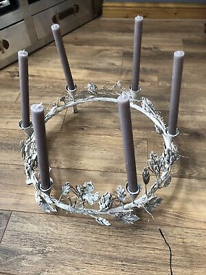 £50 • Buy Shabby Chic Candle Holder Brocante French Table Centrepiece