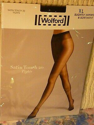 Wolford Satin Touch 20Denier Tights  Black, Extra-Large  Ideal Eveningwear  • 14.39£
