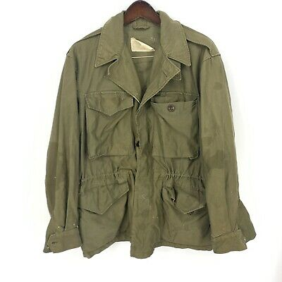 $89.10 • Buy WWII US ARMY M-1943 Field Jacket Button Front Flap Pockets Vintage Read Blemish