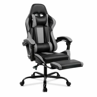 AU109 • Buy Artiss Gaming Chair Office Executive Computer Chairs Racing Footrest -Black&Grey