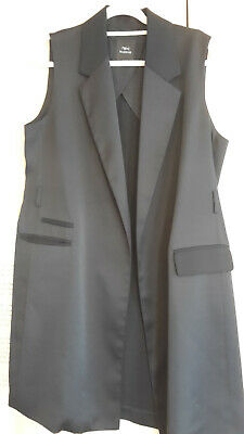 £8 • Buy Next Black Long Lined Waistcoat Size L Used