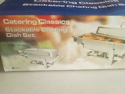 £40 • Buy Catering Classics Stackcable Chafing Dish Set 8.5L 1x65mmG/N