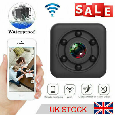 £18.85 • Buy HD Wireless Wifi Mini Camera IP CCTV Night Vision In/Outdoor Home Security UK
