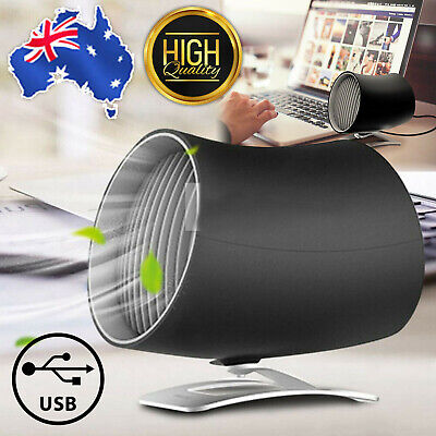 AU23.59 • Buy USB Desk Fan Cooling Rotatable MINI Ultra Quiet Portable Touch Control Tool AU