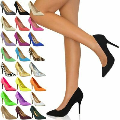 £15.99 • Buy Womens Ladies Office Smart Work Party High Heel Stiletto Point Court Shoes Size