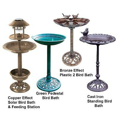 £27.99 • Buy Bird Hotel Feeder & Bath With Solar Light Garden Ornamental Birds Table Station