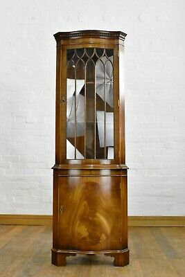 AU272.02 • Buy Antique Style Serpentine Bow Front Corner Cupboard / Display Cabinet