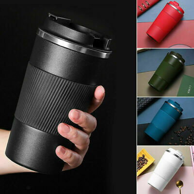 AU19.50 • Buy Insulated Travel Coffee Mug Cup Thermal Flask Vacuum Thermos Stainless Steel Hot