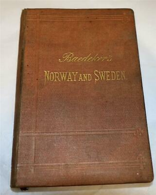 £9.99 • Buy Baedeker's Norway And Sweden 1889 Antique Guide Book