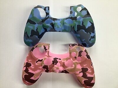 AU16.23 • Buy PS4 Controller Skin Silicone, Grip, Cover For Controller X2 Pink Blue Camo