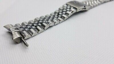 $ CDN54.07 • Buy 22mm Stainless Steel Jubilee Watch Band Solid Links Curved End Fit Seiko SKX007