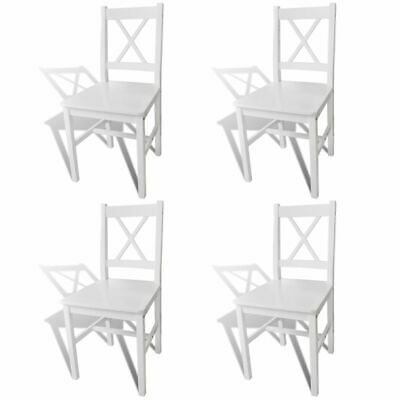 AU223.99 • Buy VidaXL 4x Dining Chairs Wood White Cafe Stool Seat Room Kitchen Furniture