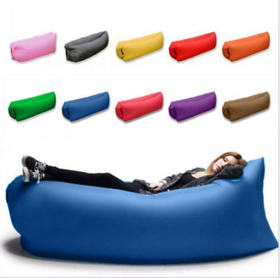 £3.99 • Buy Lazy Air Bed Inflatable Lounger Couch Chair Beach Sofa Bag Hangout Camping Bean_