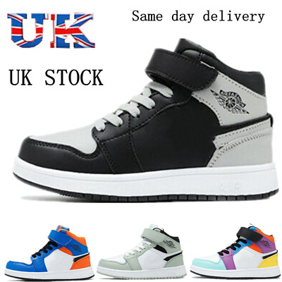 £17.99 • Buy Kids Boys Girls High Top Trainers Children Sports Shoes Gym School Sneakers