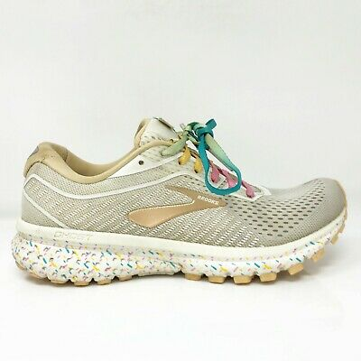 $ CDN64.38 • Buy Brooks Womens Ghost 12 1203051B177 Beige Grey Running Shoes Lace Up Size 7.5 B