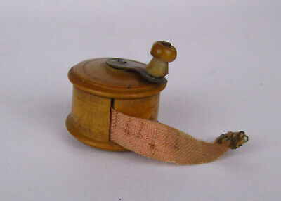 £38 • Buy Victorian Novelty Fruitwood Fishing Reel Sewing Tape Measure