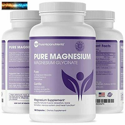 £20 • Buy Pure Micronutrients Magnesium Glycinate Supplement (Chelated) 200mg, 180 Count
