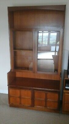 £50 • Buy Vintage Wooden Glass Fronted Display/Bookcase With Shelving And Storage Cupboard