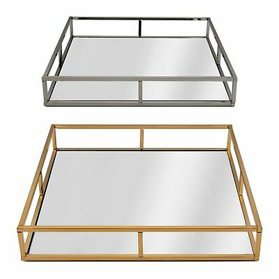 £24.99 • Buy Square Mirrored Candle Perfume Drinks Vanity Serving Tray