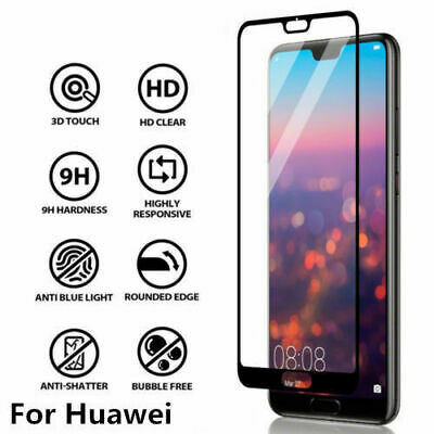 £2.99 • Buy Huawei P20 P30 Pro P40 Full Glue Screen Protector Cover Curved Tempered Glass