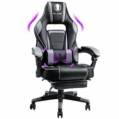 AU355.38 • Buy KILLABEE Massage Gaming Chair High Back PU Leather PC Racing Computer Desk
