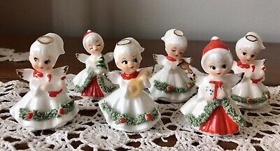 $ CDN87.95 • Buy Vintage Napco Little Christmas Angels, Bone China, Made In Taiwan, Set Of 6