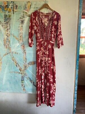 AU50 • Buy Tigerlily Sonisay Dress Long Red Flower Print Size 8