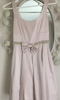 AU12.50 • Buy Forever New Dusty Pink Beaded Satin Dress Size 8