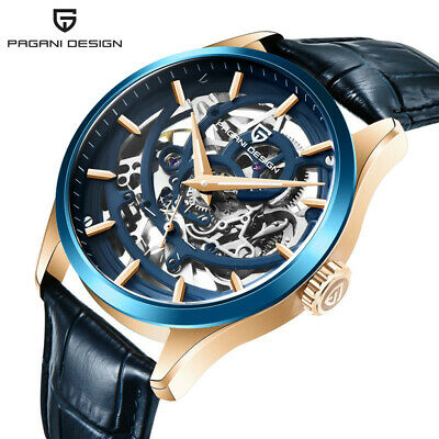 $ CDN102.32 • Buy PAGANI DESIGN Men Automatic Mechanical Watch 10AMT Waterproof Leather Wristwatch