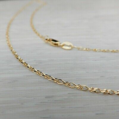AU196 • Buy Genuine Brand New 9K Solid Yellow Gold Figaro Chain Necklace 45cm (9CT 375)
