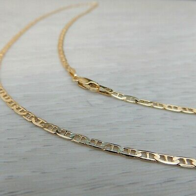 AU352 • Buy Genuine New 9K 9CT 375 Solid Yellow Gold Anchor Chain Necklace 45,50,55,60,70cm