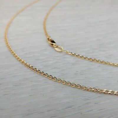 AU317 • Buy Genuine New 9K 9CT 375 Solid Yellow Gold Long Curb Link Chain Necklace 45 & 50cm