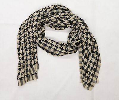 £5 • Buy Preworn Womens Brown Houndstooth Knit  Scarf