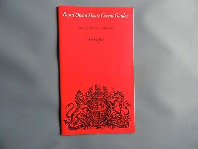 £5.99 • Buy  Royal Opera House Covent Garden. PARSIFAL. 1st May 1971